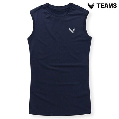 에이션패션 팀스폴햄 남성 심플 로고 민소매 티셔츠 TU2H143_NV_이미지