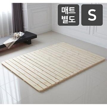 자미솔솔  삼나무 원목 깔판 침대 SS (매트별도)