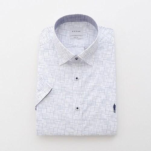 패션그룹형지 예작 화이트 점프사 프린트 슬림핏 반소매 셔츠 YJ8MBS614WH_이미지