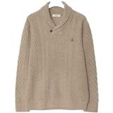 삼성물산 빈폴 베이지 울 숄칼라 솔리드 스웨터 BC9951C11A