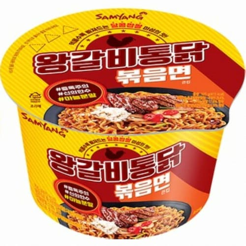 삼양식품 왕갈비통닭볶음면 큰컵 105g (6개)_이미지