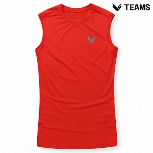 에이션패션 팀스폴햄 남성 심플 로고 민소매 티셔츠 TU2H143_RD_이미지
