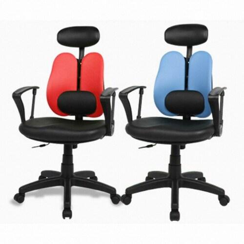 체어클럽  G플러스백 CW형 플러스 요추헤더형 의자 (인조가죽등판)_이미지