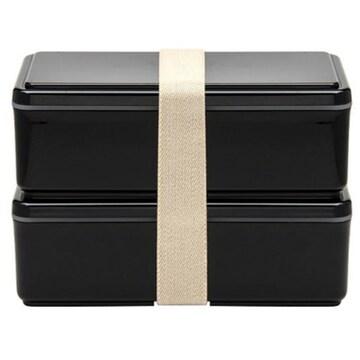 미요시 젤쿨 스퀘어 보냉제 일체형 런치박스 슬림 맨즈 블랙