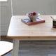 아씨방 버튼 화이트 식탁세트 1500 (의자3개+벤치1개)_이미지