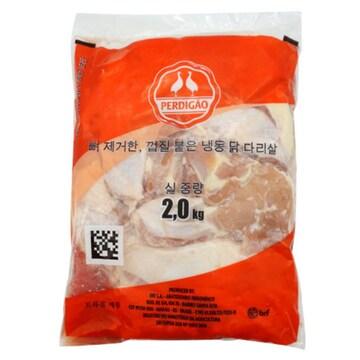 페르디가오 뼈없는 냉동 닭다리살 2kg