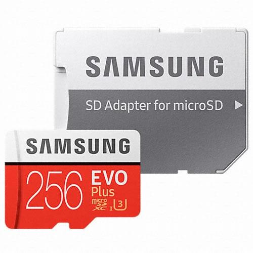 삼성전자  micro SDXC CLASS10 UHS-I U3 EVO Plus 100MB/s (256GB+어댑터)_이미지