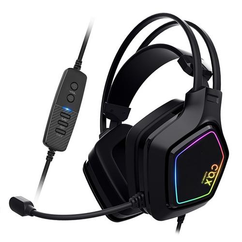 COX SCARLET 가상 7.1 RGB 노이즈 캔슬링 마이크 진동 초경량 헤드셋