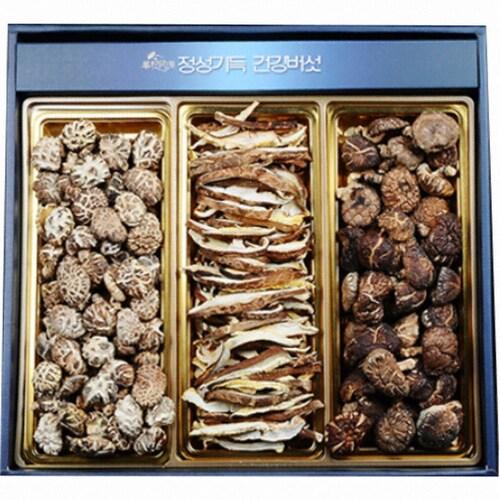 누리원  표고버섯 선물세트 300g 흑화고 동고 표고채 (1개)_이미지
