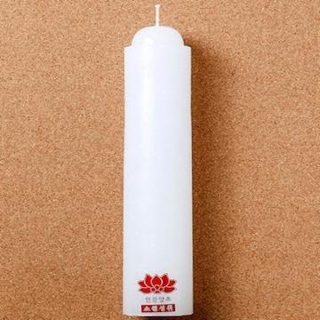 롯데알미늄 롯데이라이프 연꽃 양초(밀초)(1개)