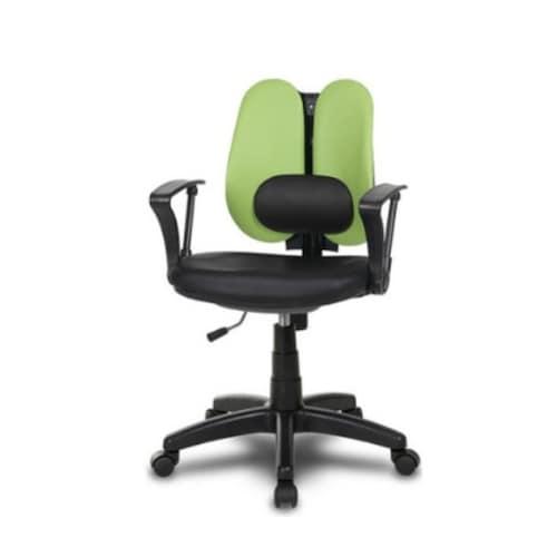 체어클럽 시스템요추W5-2 고급형 사무용 의자 (인조가죽등판)_이미지