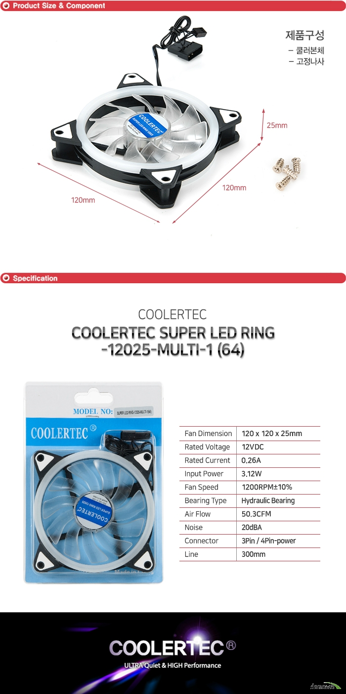 COOLERTEC  SUPER LED RING-12025-MULTI-1 (64)