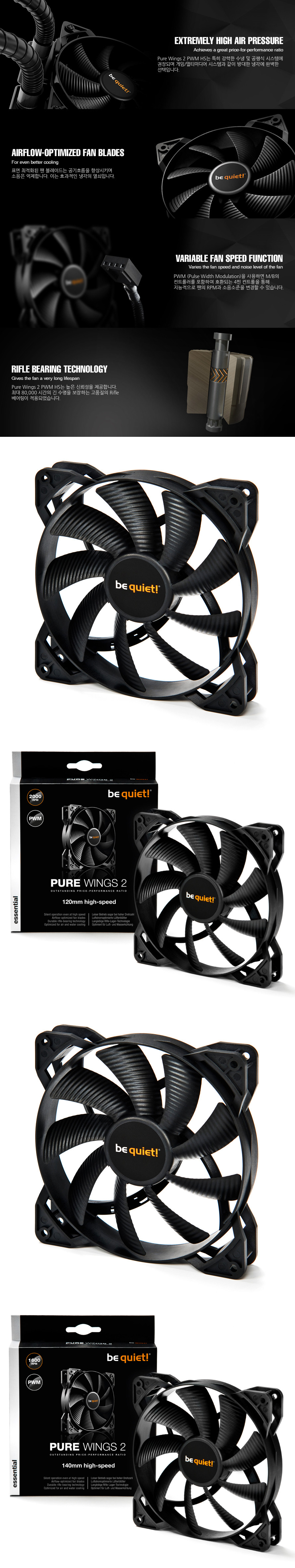 be quiet  PURE WINGS 2 PWM(140mm high-speed)