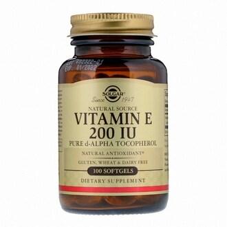솔가 비타민 E 200IU 100캡슐 (해외) (1개)_이미지