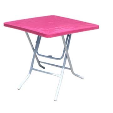 화인 접이식 테이블 (사각-분홍)_이미지