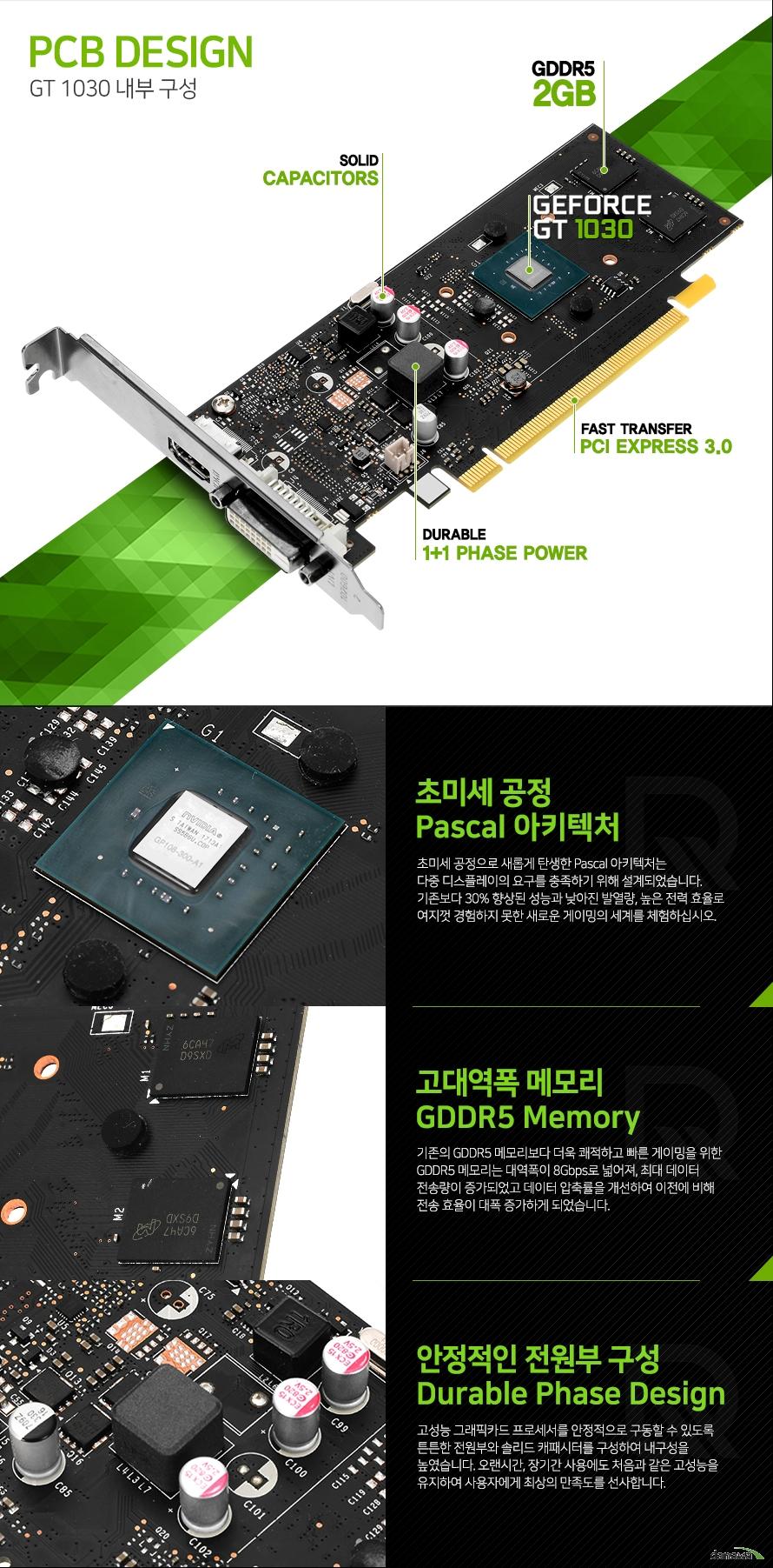 리드텍 WinFast 지포스 GT1030 D5 2GB