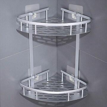 수앤컴퍼니 모나코올리브 무타공 알루미늄 2단 선반