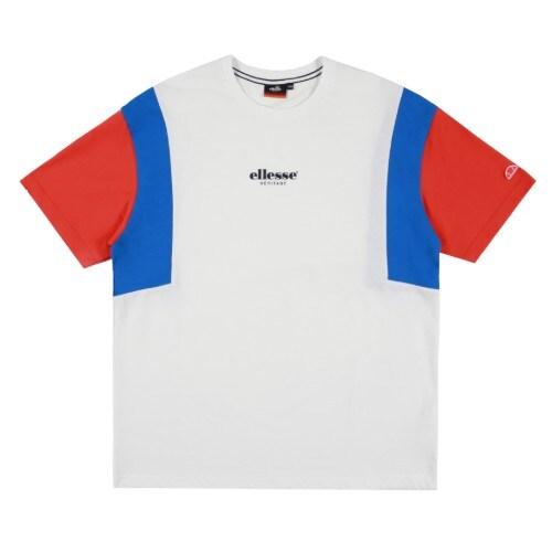 엘레쎄 블로킹 루즈핏 반팔 티셔츠 EJ2UHTR387 OW_이미지