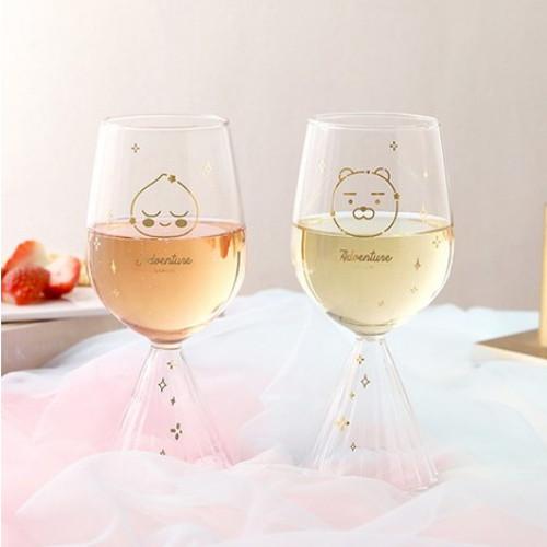 카카오프렌즈 어드벤쳐 와인 글라스 세트(2개)