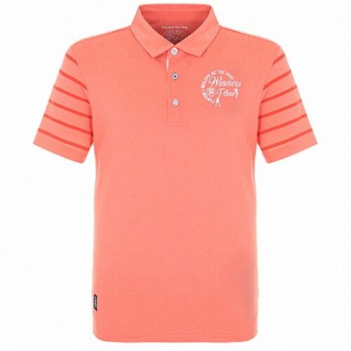 팬텀 빈티지 소매 스트라이프 반팔 티셔츠 21182TO024_OR_이미지