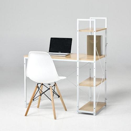모던하우스 로코 H형 책상 화이트 (100x48cm)_이미지