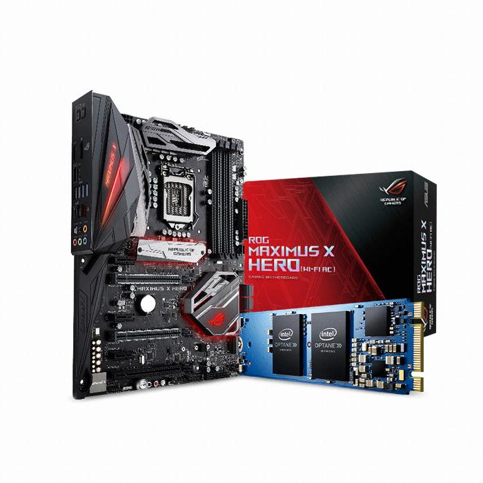 ASUS ROG MAXIMUS X HERO + 옵테인 메모리 16GB 코잇