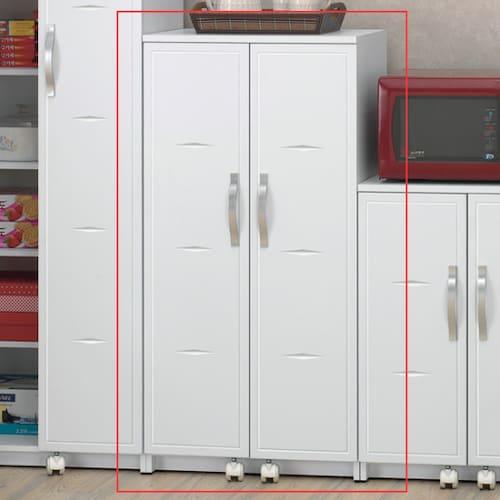 미소비즈 웰우드 샤픈 냉장고형 주방수납장 중 600_이미지