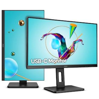 알파스캔 AOC U27P2C 4K UHD USB-C 프리싱크 높낮이 무결점_이미지