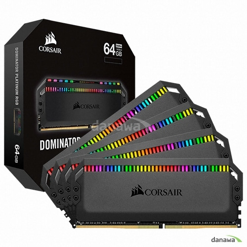 CORSAIR  DDR4 64G PC4-28800 CL18 Dominator Platinum RGB (16Gx4)