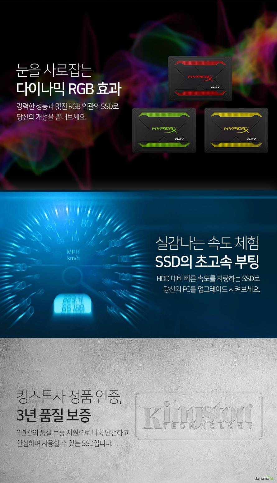 킹스톤  HyperX FURY RGB(480GB)