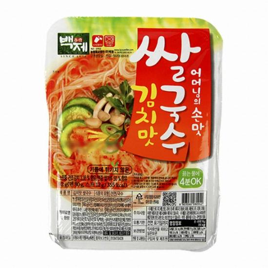 백제 쌀국수 김치맛 92g(1개)