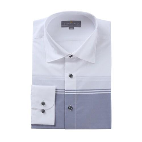 클리포드 카운테스마라 슬림 긴소매 그라데이션 화이트 셔츠 CDHP3C2109A0_이미지