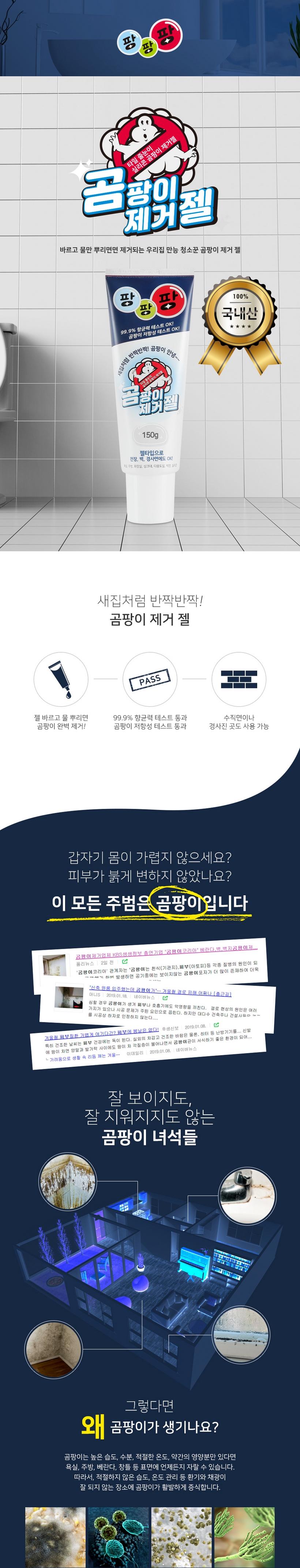 위자드스톤 위자드스톤 팡팡팡 곰팡이제거젤 150g (1개)