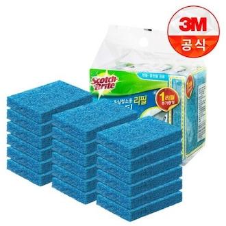 3M 스카치브라이트 올인원 욕실청소용 크린스틱 핸들 리필 (18개)_이미지