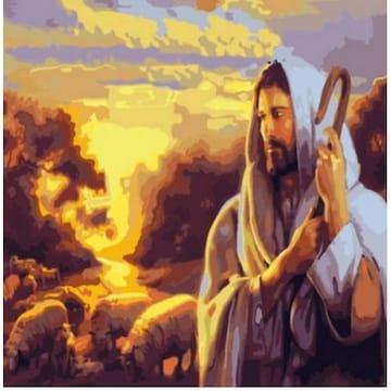 피포페인팅  DIY 명화그림그리기 J03 예수와양떼