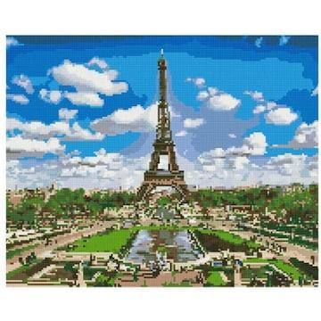 아트조이 캔버스형 보석십자수 구름 속 에펠탑_이미지