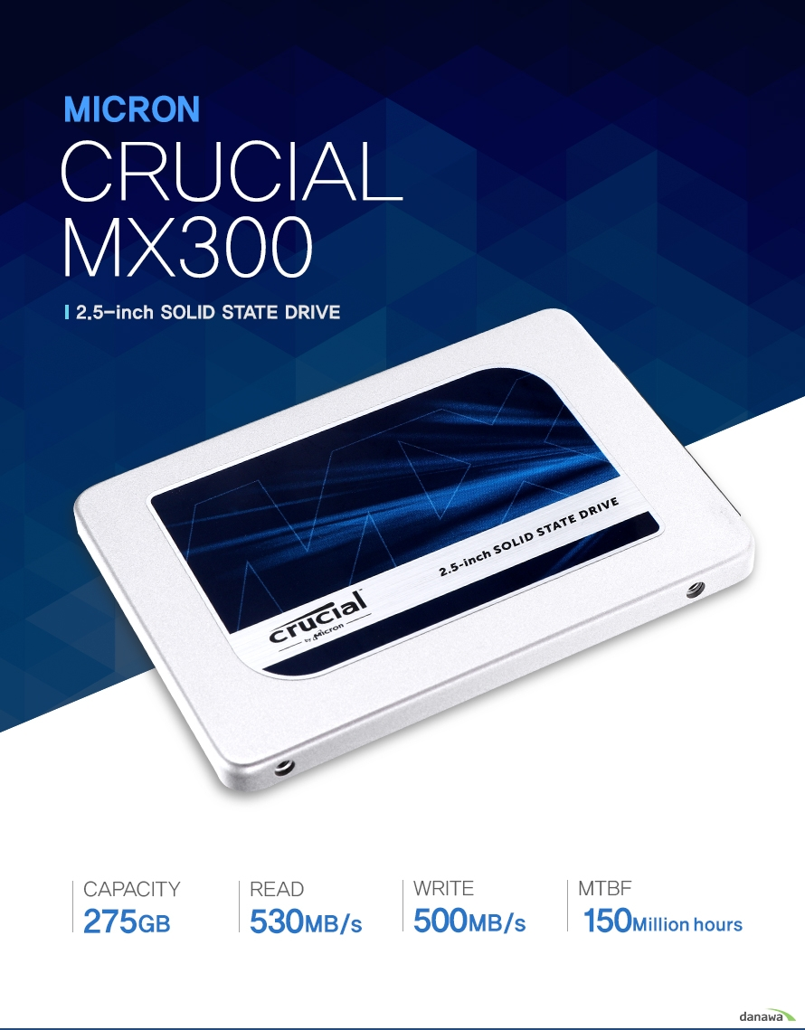 MICRON CRUCIAL MX300 2.5-Inch solid state drive