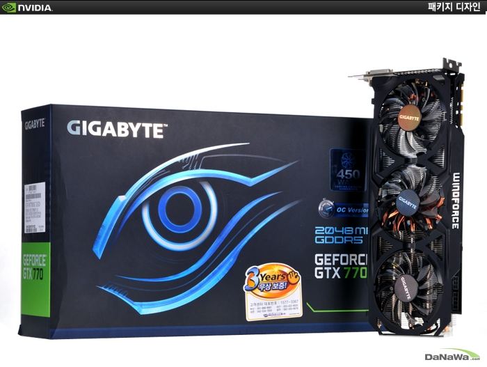 GIGABYTE 지포스 GTX 770 UDV D5 2GD WINDFORCE METAL의 패키지 디자인