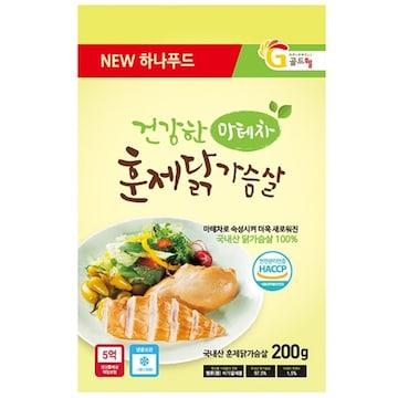 하나푸드  마테차 훈제 닭가슴살 200g (15개)