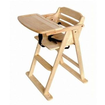 베이비캠프 유아용 접이식 원목 식탁의자 (원목)_이미지