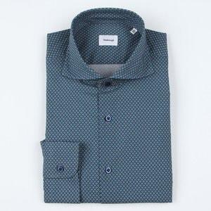 지엠아이 밴브루 마름모 프린트 와이드 셔츠 BGRSL11128GE_이미지