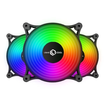 LEADCOOL 120 AUTO RGB BLACK (3PACK)