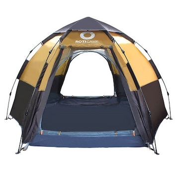 로티캠프  원터치 육각 텐트 (5인용)