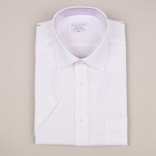 클리포드 카운테스마라 일반 반소매 화이트 솔리드 셔츠 CDCQ2B1262A0_이미지