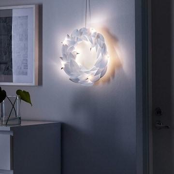 이케아 LED STRALA 리스 화이트 비둘기 벽조명