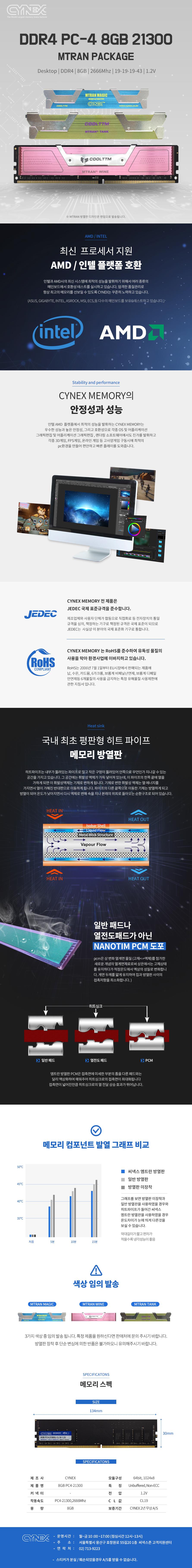 CYNEX DDR4-2666 CL19 엠트란 (8GB)
