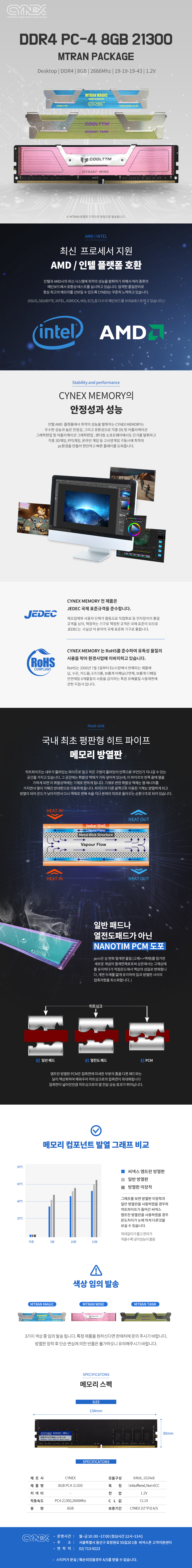 CYNEX DDR4 8G PC4-21300 CL19 엠트란