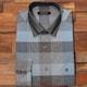 루이까또즈  브라운 체크 패턴 카라클래릭 원버튼 스냅 셔츠 L53392_이미지