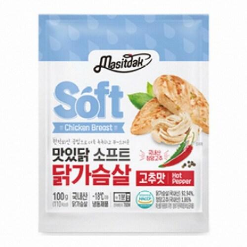 푸드나무 맛있닭 소프트 닭가슴살 고추맛 100g (25개)_이미지