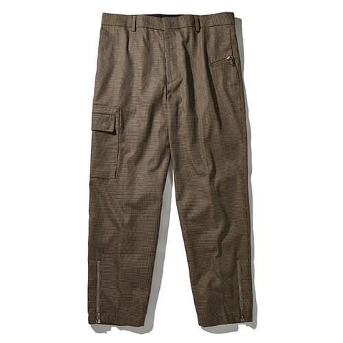 코오롱인더스트리 커스텀멜로우 micro houndtooth zipper pants CWPAA17642BEX_이미지
